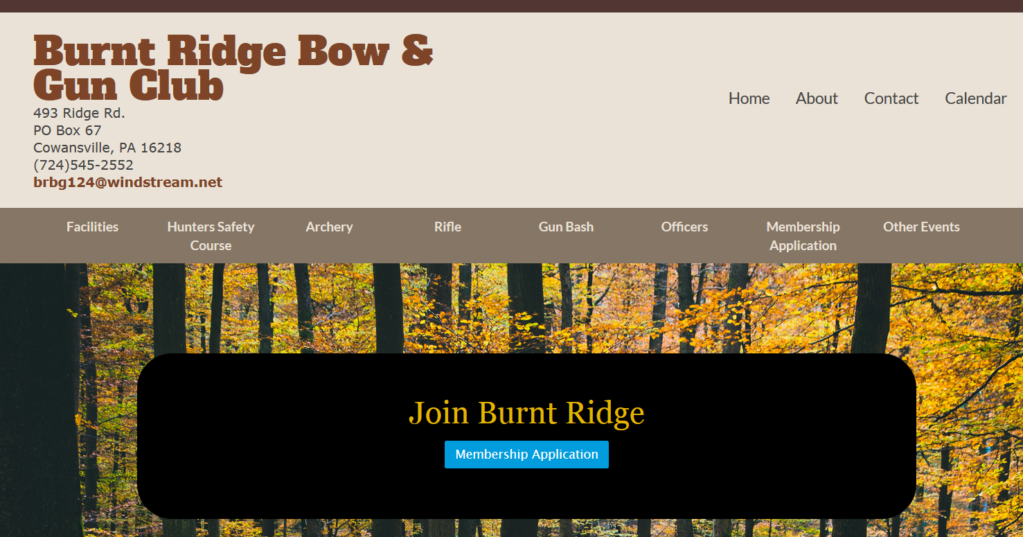 Burnt Ridge Bow and Gun Club - Cowansville, PA
